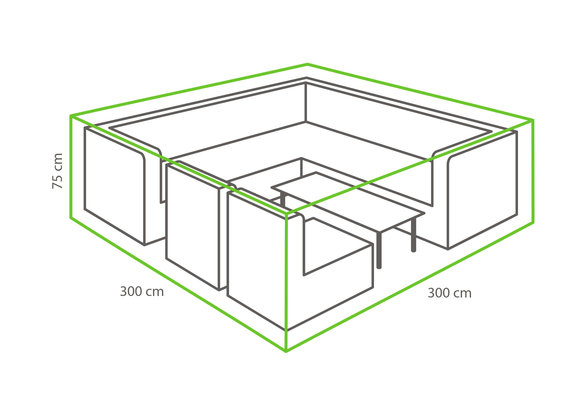 Outdoor Covers Loungeset beschermhoes | 300x300x75cm