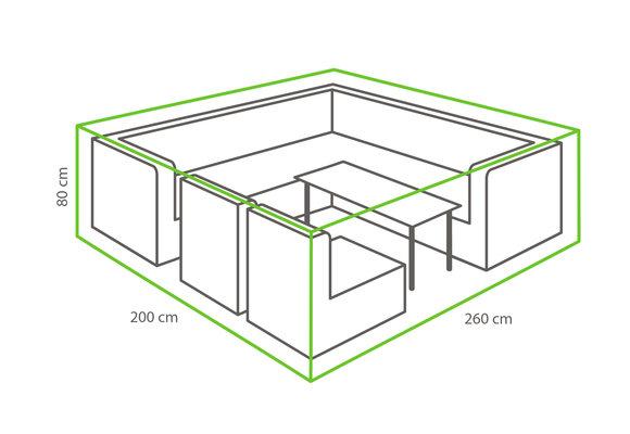 Outdoor Covers Loungeset beschermhoes | 260x200x80cm
