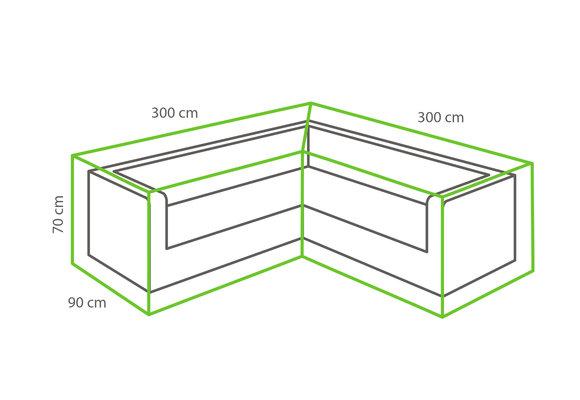 Outdoor Covers Loungeset beschermhoes | L-vorm | 300/90x300/90x70cm