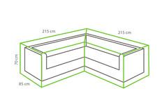 Outdoor Covers Loungeset beschermhoes | L-vorm | 215x215x70cm