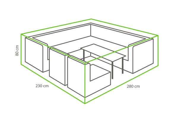 Outdoor Covers Loungeset beschermhoes | 280x230x75cm