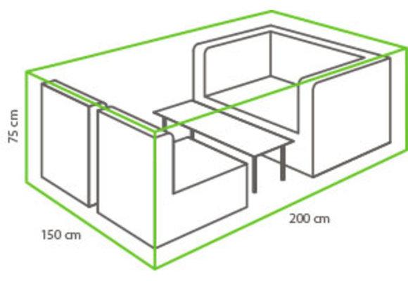 Outdoor Covers Loungeset beschermhoes   200x150x75cm