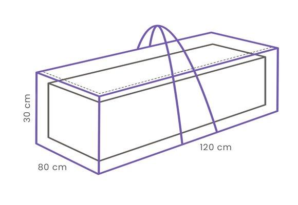 Outdoor Covers Pallet kussentas | 120x80x30cm