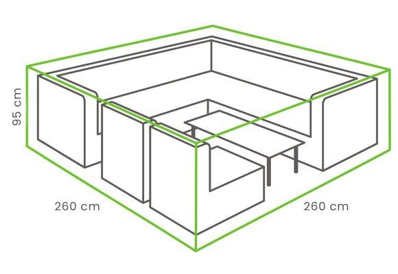 Outdoor Covers Loungeset beschermhoes | 260x260x95cm