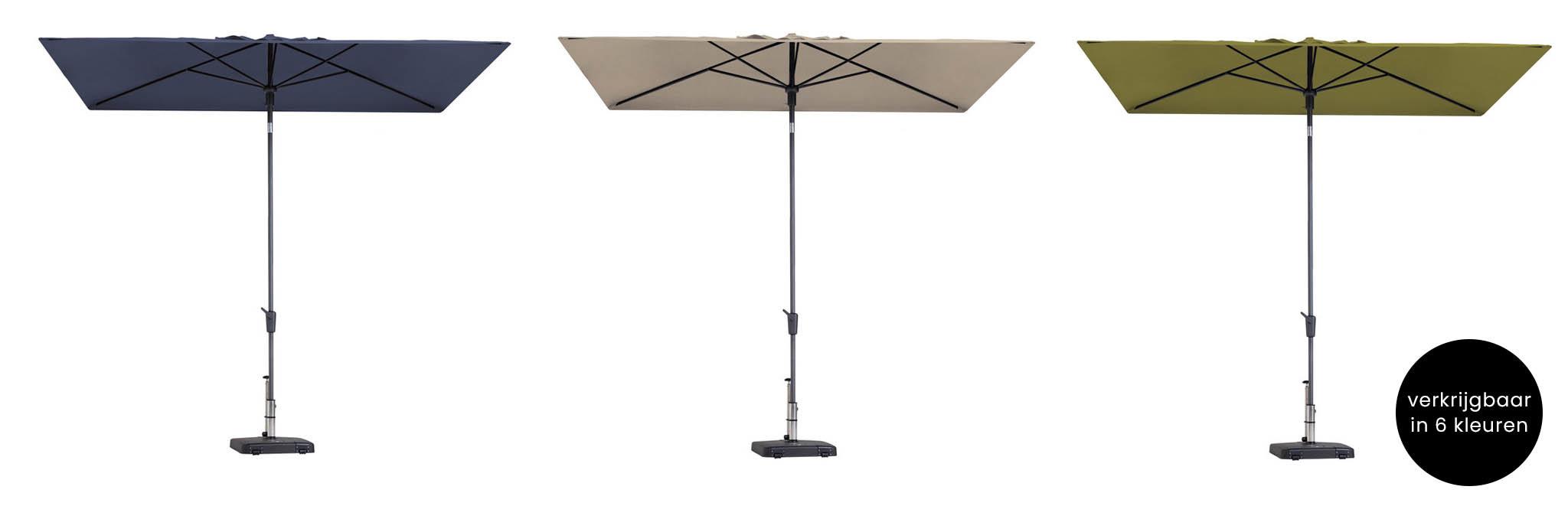 Moderne vierkante parasols