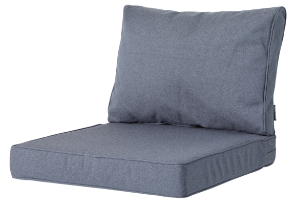 img Madison Madison Luxe Loungekussens | Outdoor Manchester Denim Grey | 60x60 + 60x40cm | Extra dik