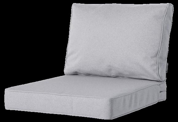 Madison Luxe Loungekussens | Outdoor Manchester Light Grey | 60x60 + 60x40cm | Extra dik