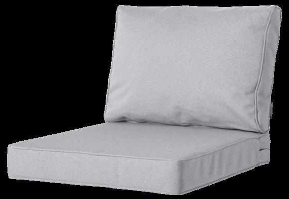 Madison Luxe Loungekussens | Outdoor Manchester Light Grey | 73x73 + 73x40cm | Extra dik