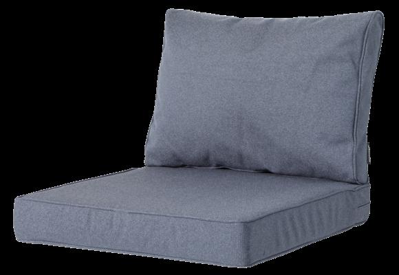Madison Luxe Loungekussens | Outdoor Manchester Denim Grey | 73x73 + 73x40cm | Extra dik