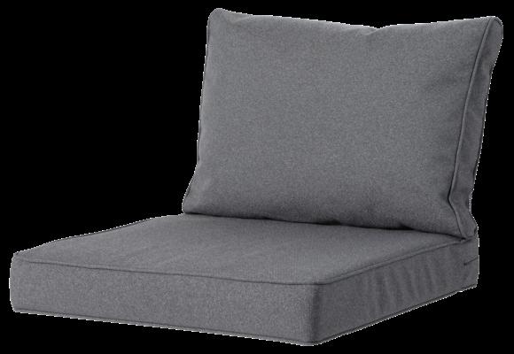 Madison Luxe Loungekussens | Outdoor Manchester Grey | 73x73 + 73x40cm | Extra dik