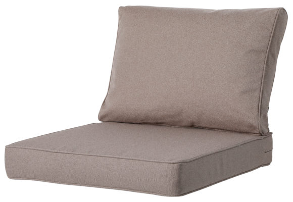 Madison Luxe Loungekussens | Outdoor Manchester Taupe | 73x73 + 73x40cm | Extra dik