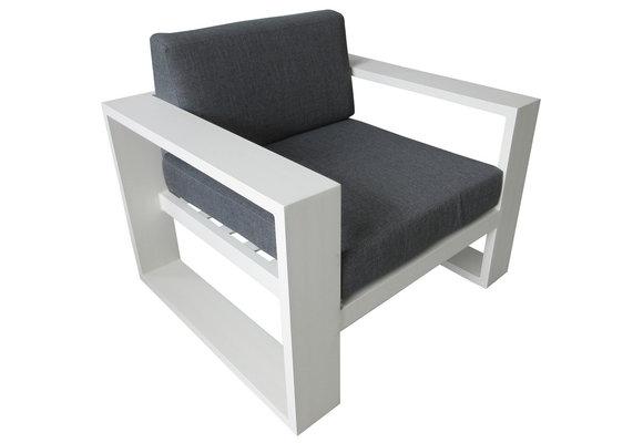 Loungestoel Pompei | White | Aluminium