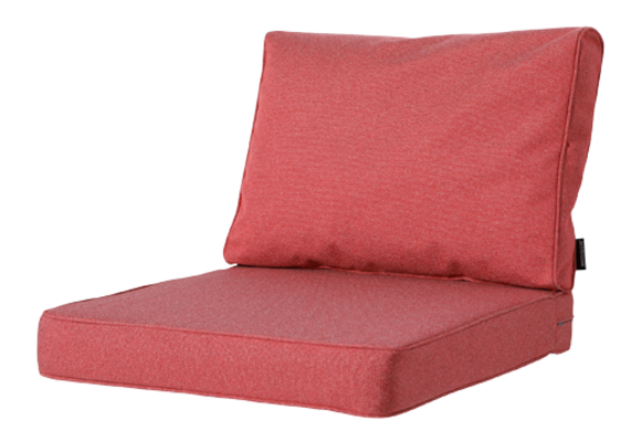 Madison Luxe Loungekussens | Outdoor Manchester Red | 73x73 + 73x40cm | Extra dik