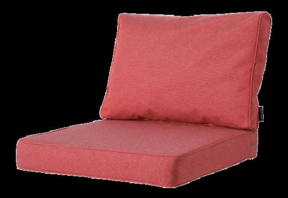 Madison Luxe Loungekussens | Outdoor Manchester Red | 60x60 + 60x40cm | Extra dik
