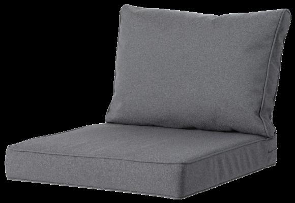 Madison Luxe Loungekussens | 4 SETS | Outdoor Manchester Grey | 73x73 + 73x40cm | Extra dik