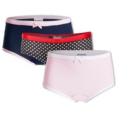UnderWunder Girls set, blue/pink/ hearts