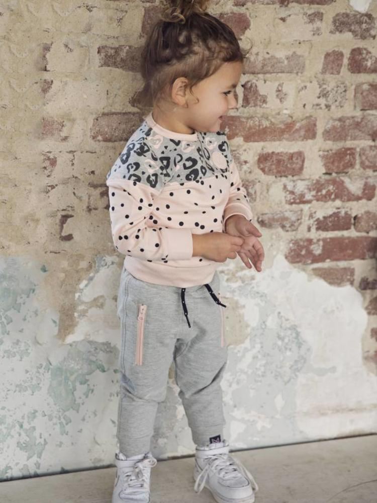 Girls sweater with leopard print and dots | Koko Noko | 37Z-29934
