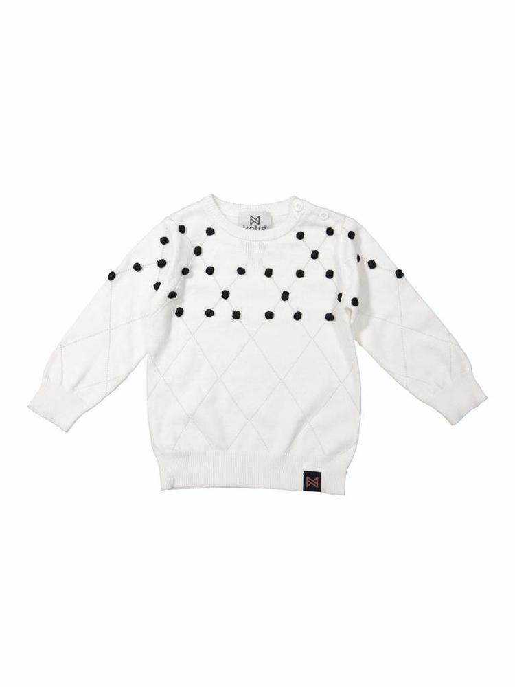 Girls sweater with dots | Koko Noko | 37Z-29930