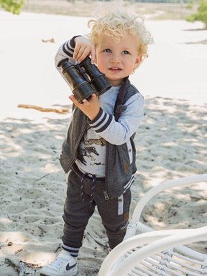 Boys vest dark gray