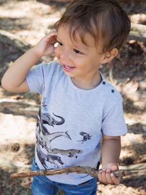 Boys T-shirt with animal print