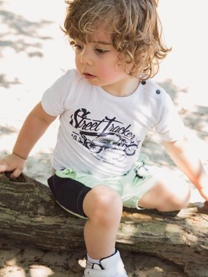 Boys T-shirt white with print
