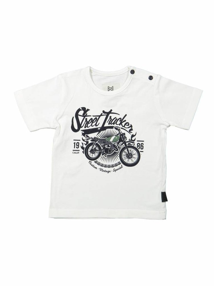 Boys T-shirt white with print | 37A-30846