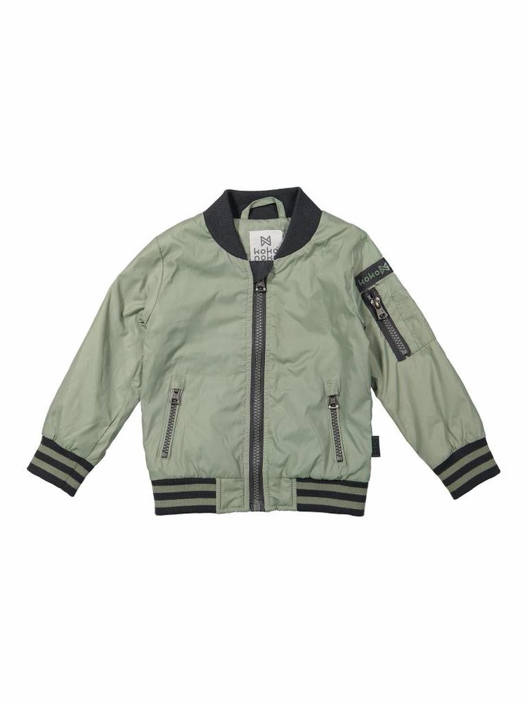 Boys jacket green in bomber style | 37A-30839