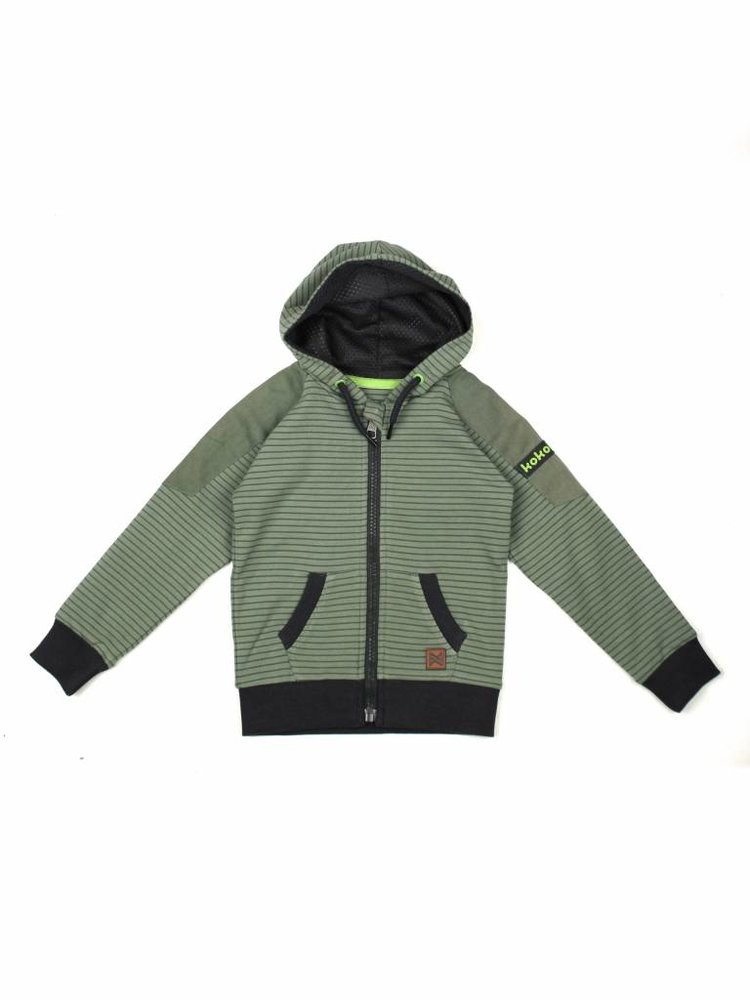 Boys vest green with hood | 37A-30835