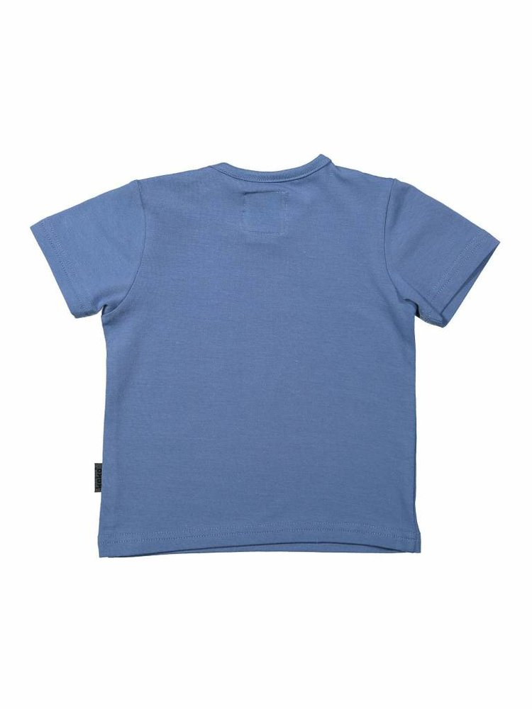 Boys T-shirt blue with print | 37A-30828