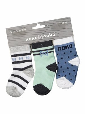 Boys socks blue green