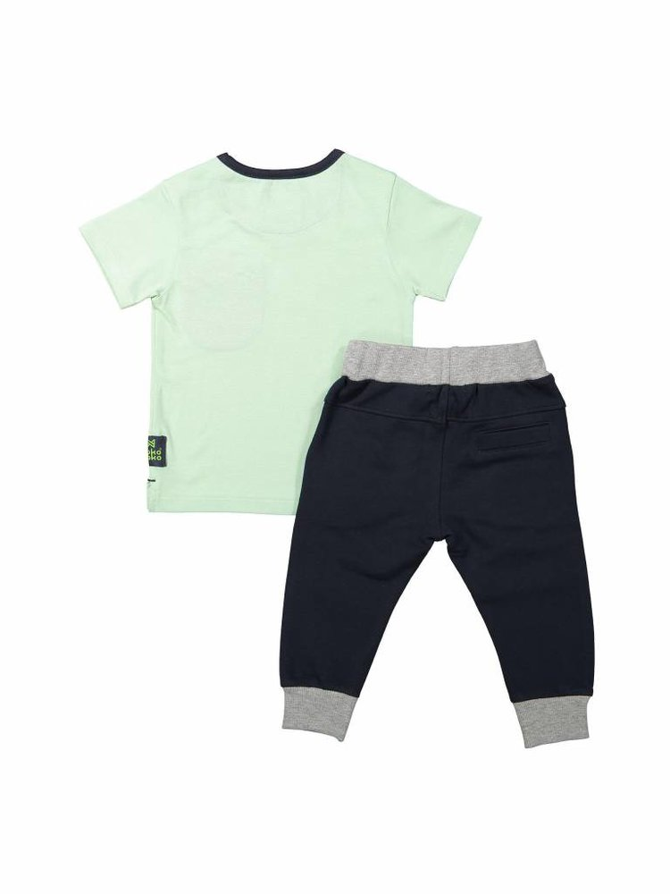 Boys 2-piece set green gray | 37A-30820