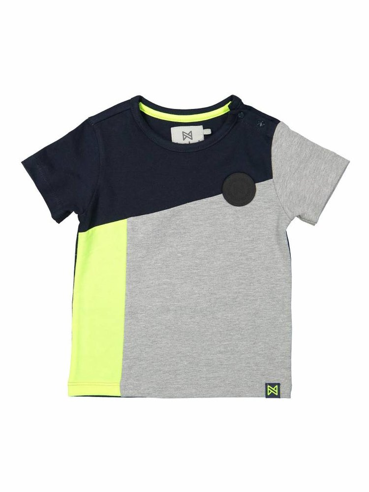 Boys T-shirt with contrast stripe | 37A-30800