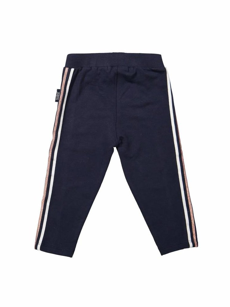 Girls jogging pants blue with side stripe | 37A-30957