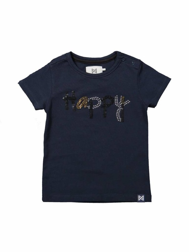 Girls T-shirt with beads and sequins | 37A-30956