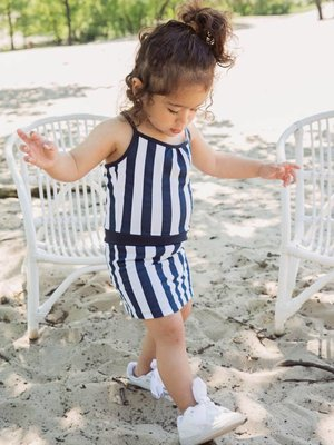 Girls dress striped
