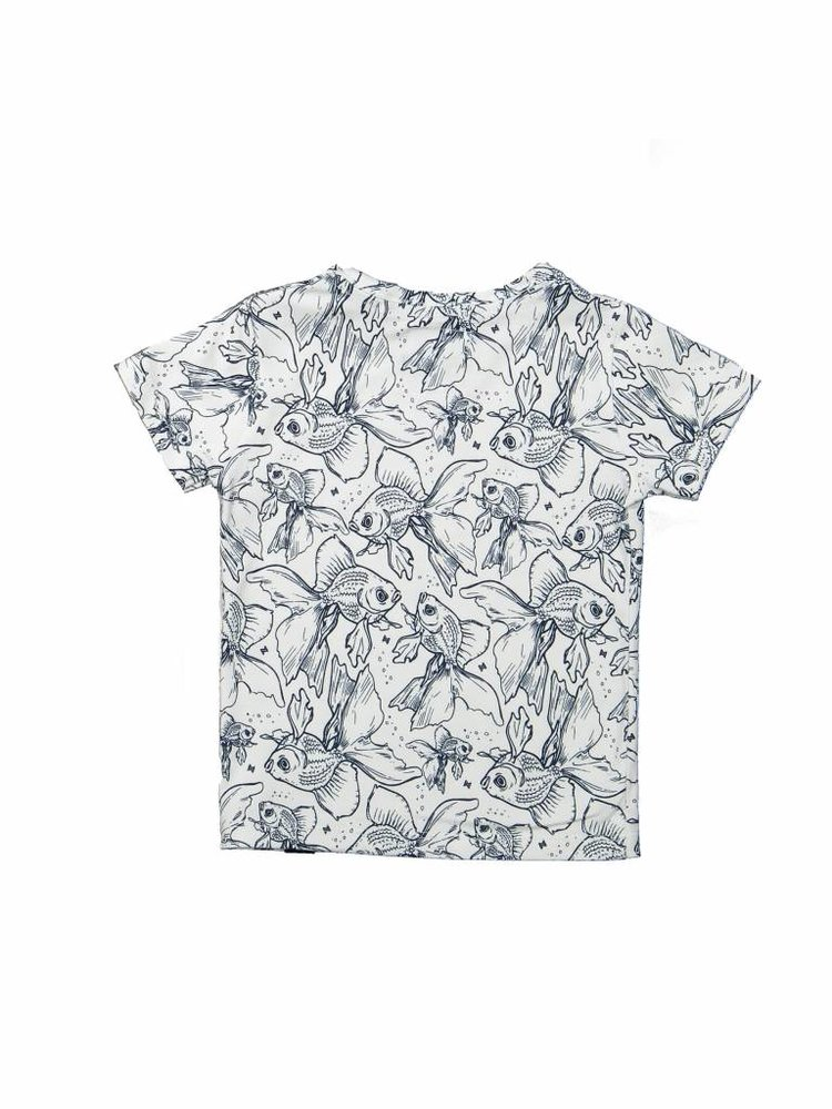 Girls T-shirt with fish print   37A-30947