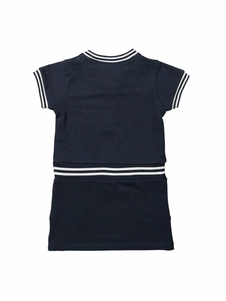 Girls dress blue with zipper | 37A-30946