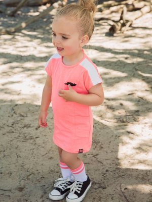 Girls dress neon pink