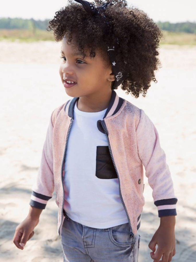 Girls cardigan in bomber style | 37A-30921