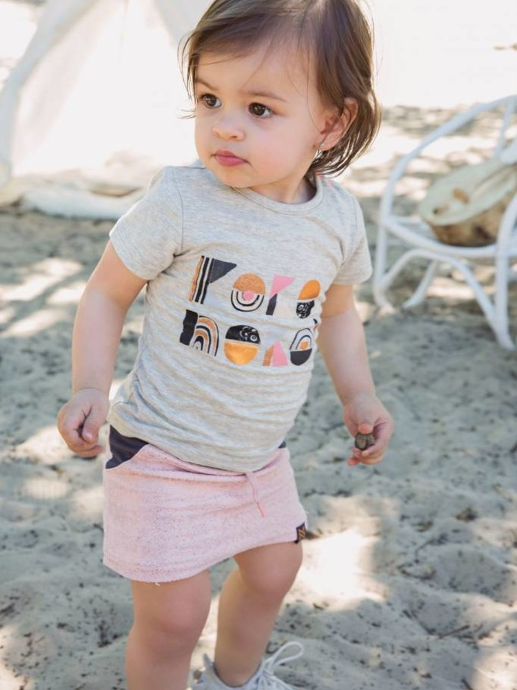 Girls T-Shirt gray with logo print | 37A-30916