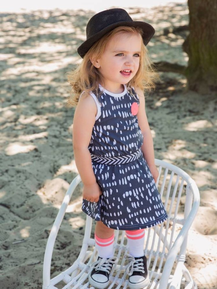 Girls dress with dots print | 37A-30900