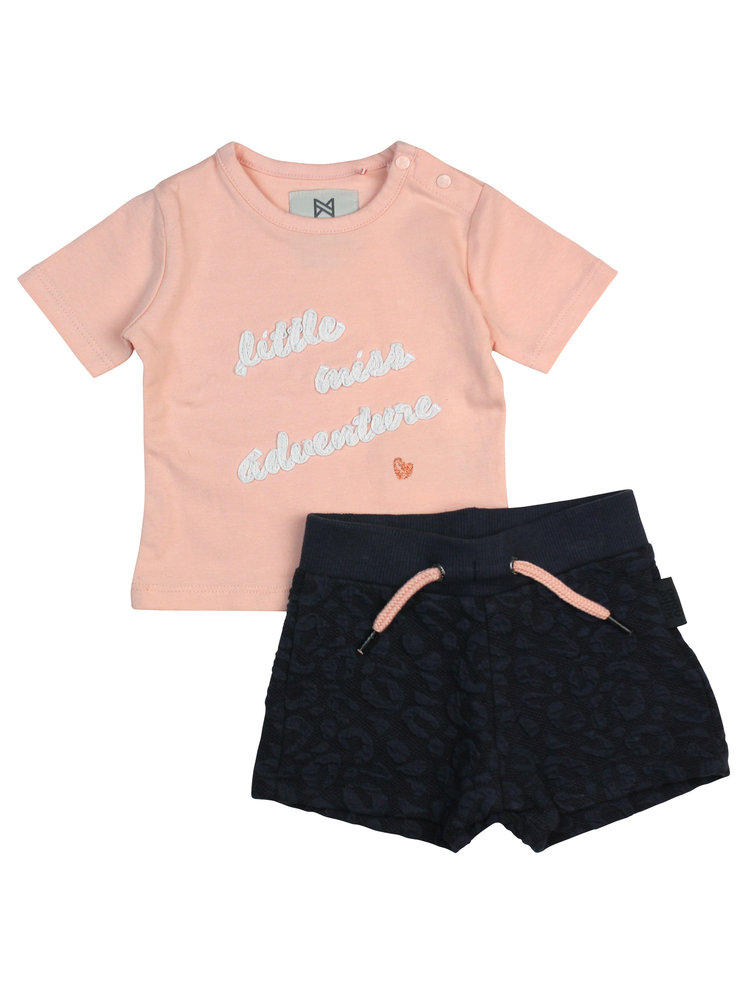 Girls 2-piece set with T-shirt and shorts | 37A-30974