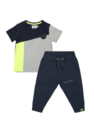 Boys 2-piece set with sweatpants and T-shirt blue
