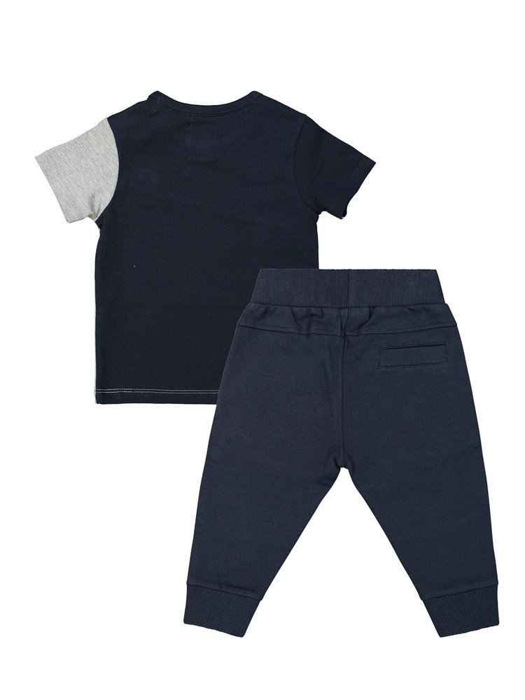 Boys 2-piece set with sweatpants and T-shirt blue | 37A-30870