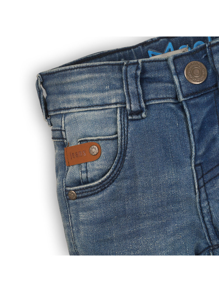 Boys jeans blue with brown label | 37B-32806