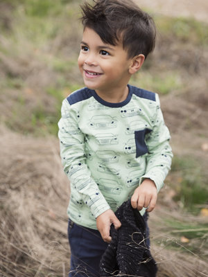 Boys longsleeve with car print