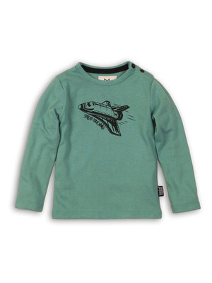 Boys longsleeve in soft green with print