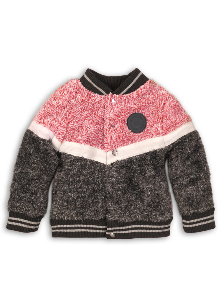 Girls cardigan with logo patch | 37B-32903