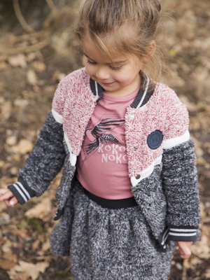 Girls cardigan with logo patch