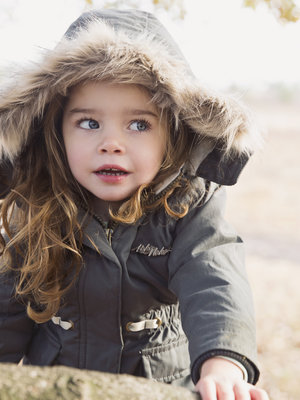 Girls jacket parka green